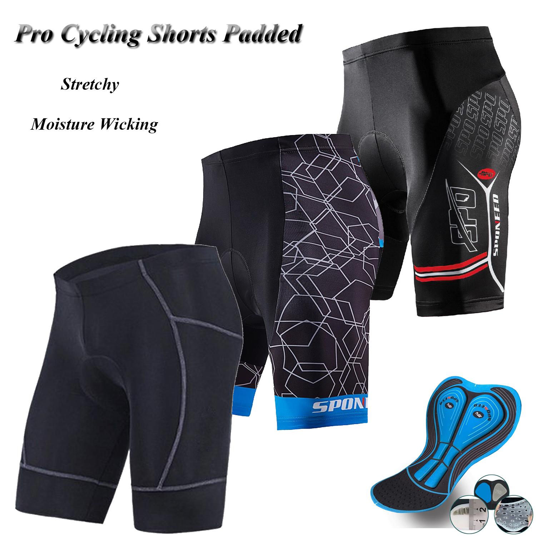 Men Bike Bib Shorts Padded Spin Road Cycling Shorts Stretchy Cycle Lycra Tights