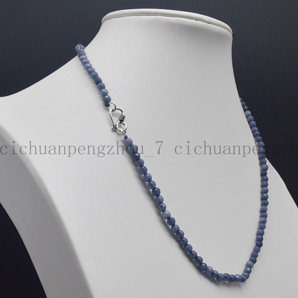 """Lot 2x4mm Gray Aquamarine Faceted Roundel Gems Beads Necklace 16-35/"""""""