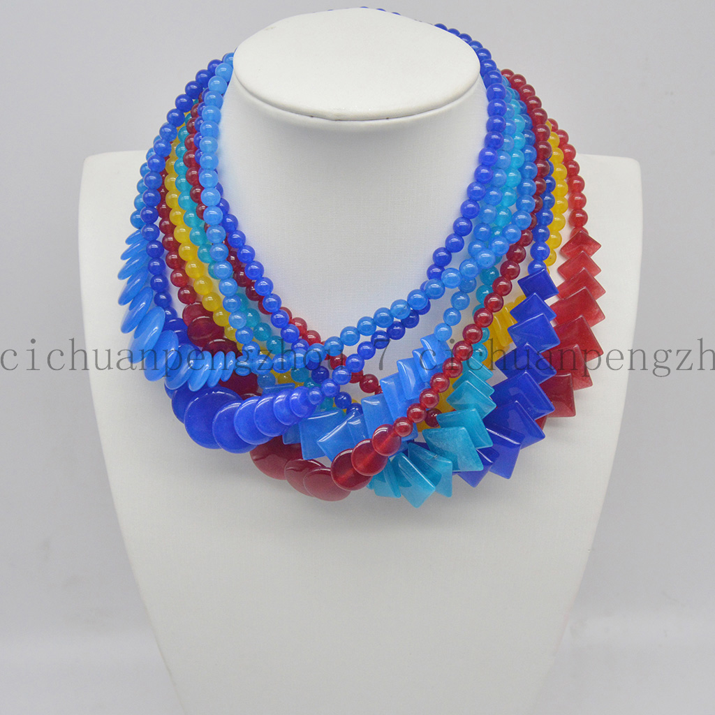 """red line agate round faceted 20mm  necklace 17/"""" nature wholesale beads"""
