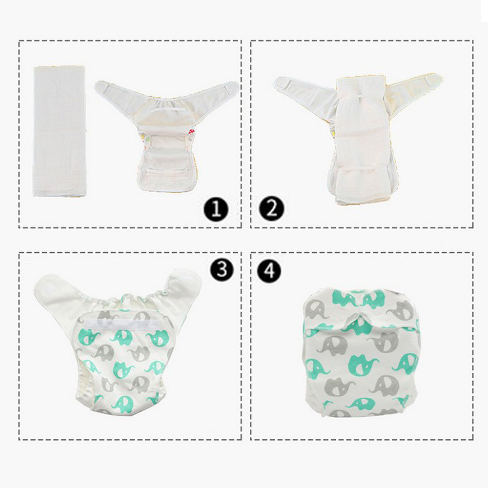 1//2//5//10x Reusable Baby Cloth Diaper Nappy Liners Insert 3 Layer Cotton Soft Top