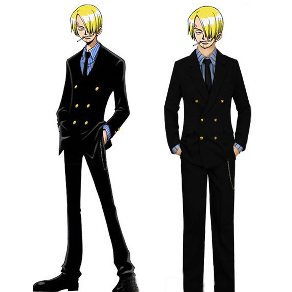 One piece sanji clothes handsome costume cosplay