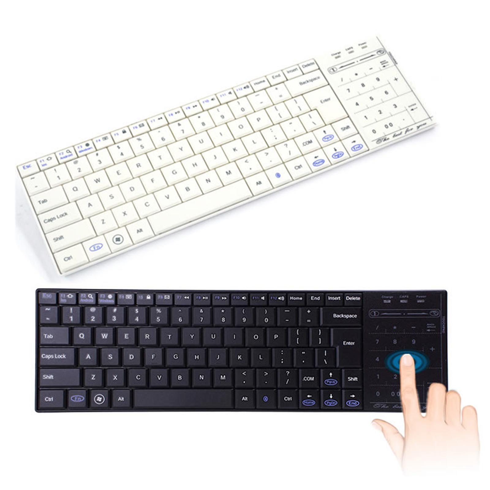Details about Portable Bluetooth Keyboard For Android IOS Windows 10 With  Touchpad Numeric