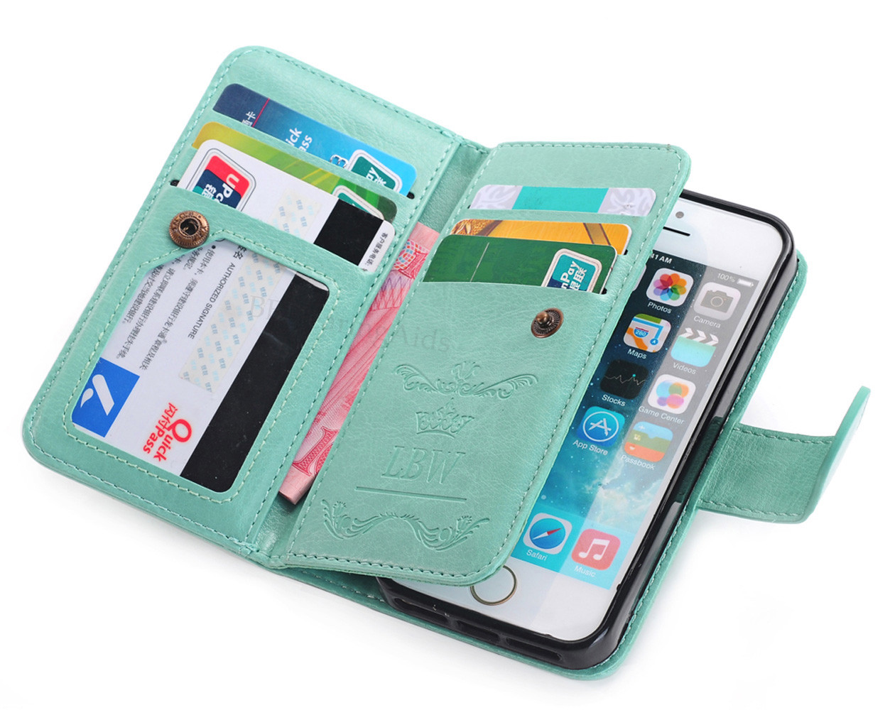 Iphone C Leather Wallet Case