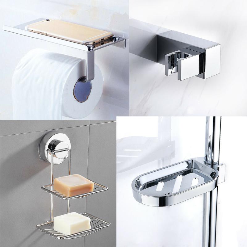 Silver Bathroom Storage Dispensers