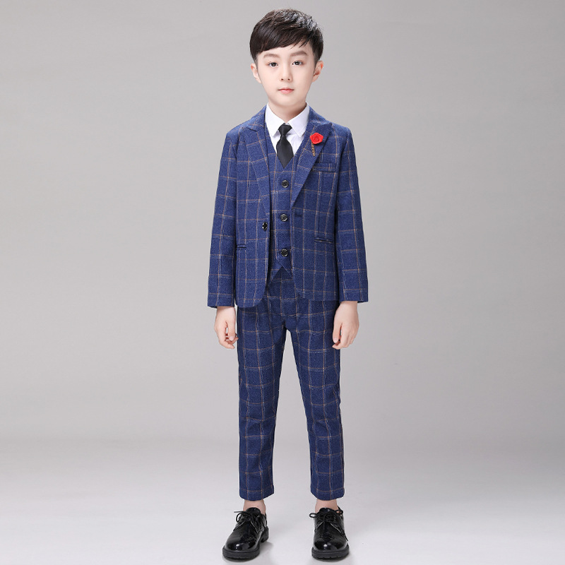 Boys Suit 5 Piece Wedding Suit Page Boy Party Prom 2-12 Years