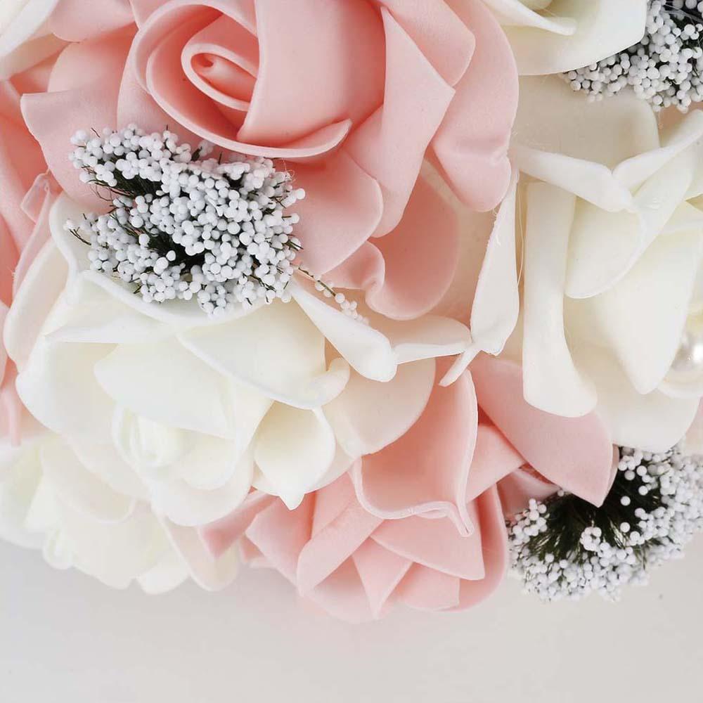 Bride Holding Flower Bouquet Korean Style Simulation Rose Bouquet ...