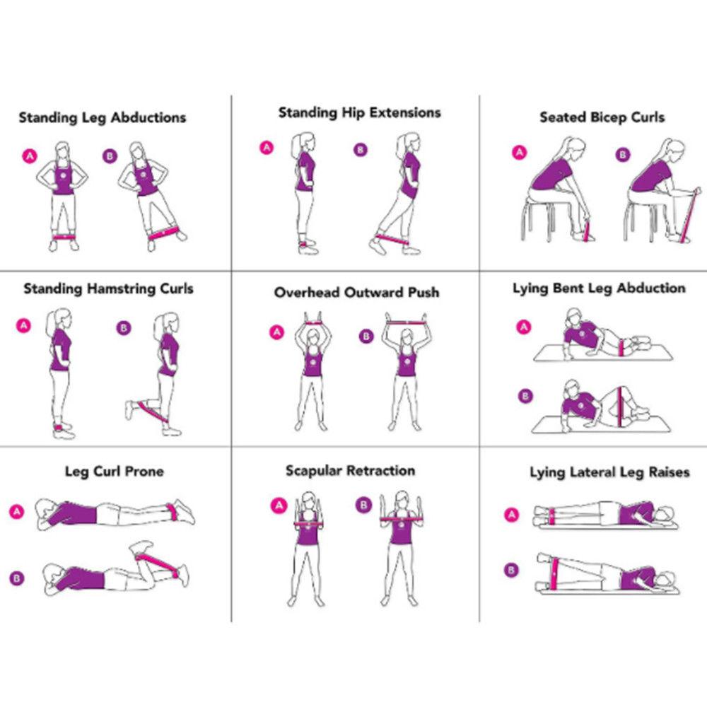 Workout Resistance Bands Loop Set Crossfit Fitness Yoga Booty Leg