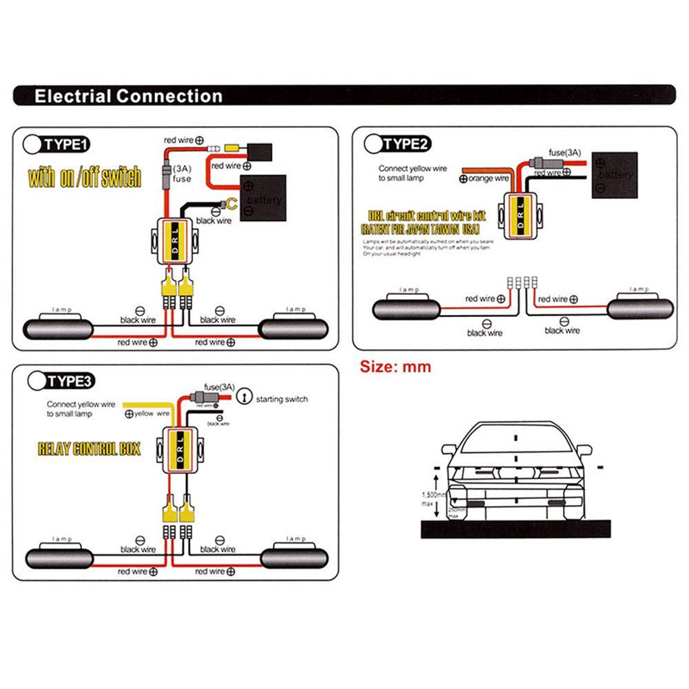 2x Switchback Car Flexible Led Strip Light Drl Sequential