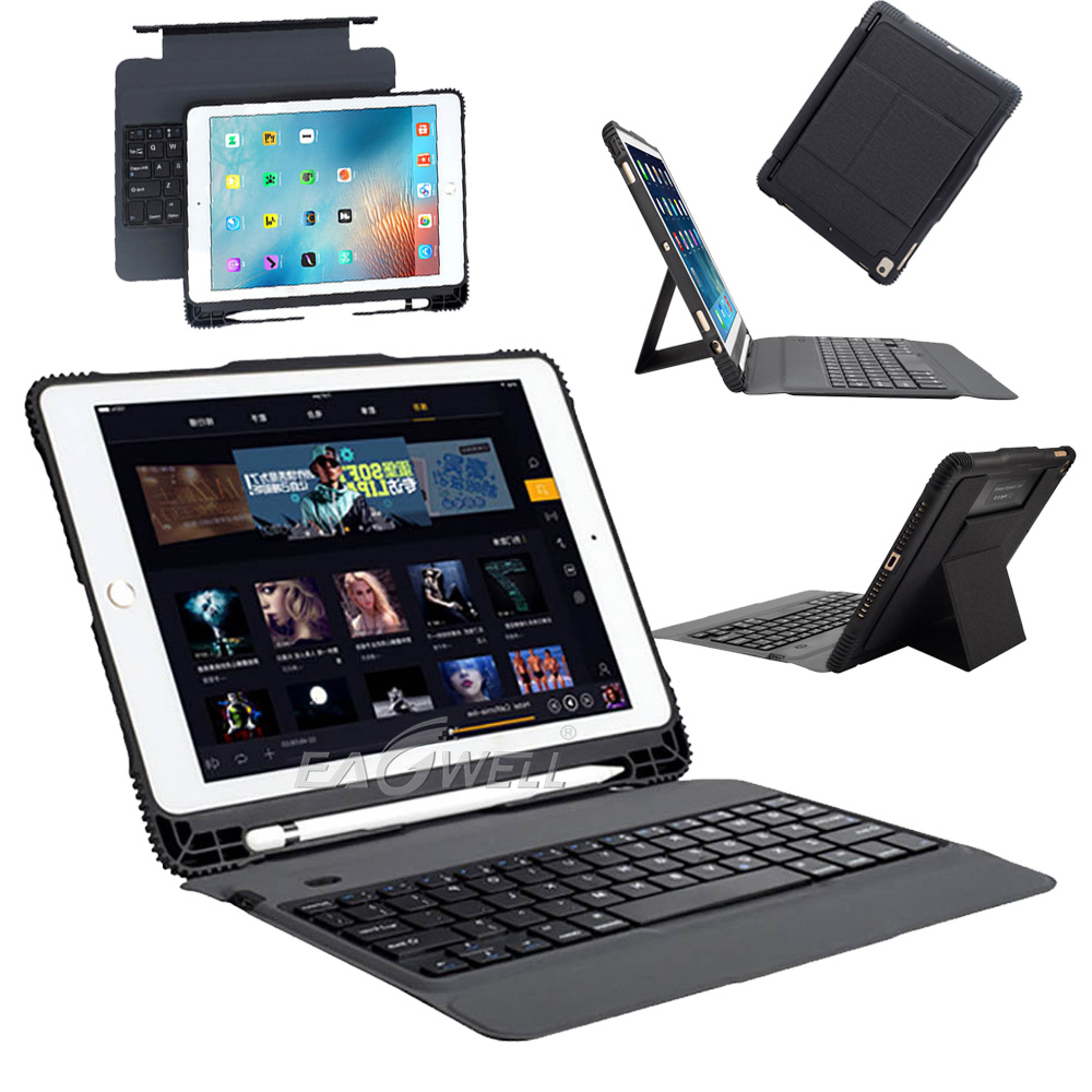 for ipad air 2019 10 5 bluetooth keyboard smart case cover with pencil holder au ebay. Black Bedroom Furniture Sets. Home Design Ideas