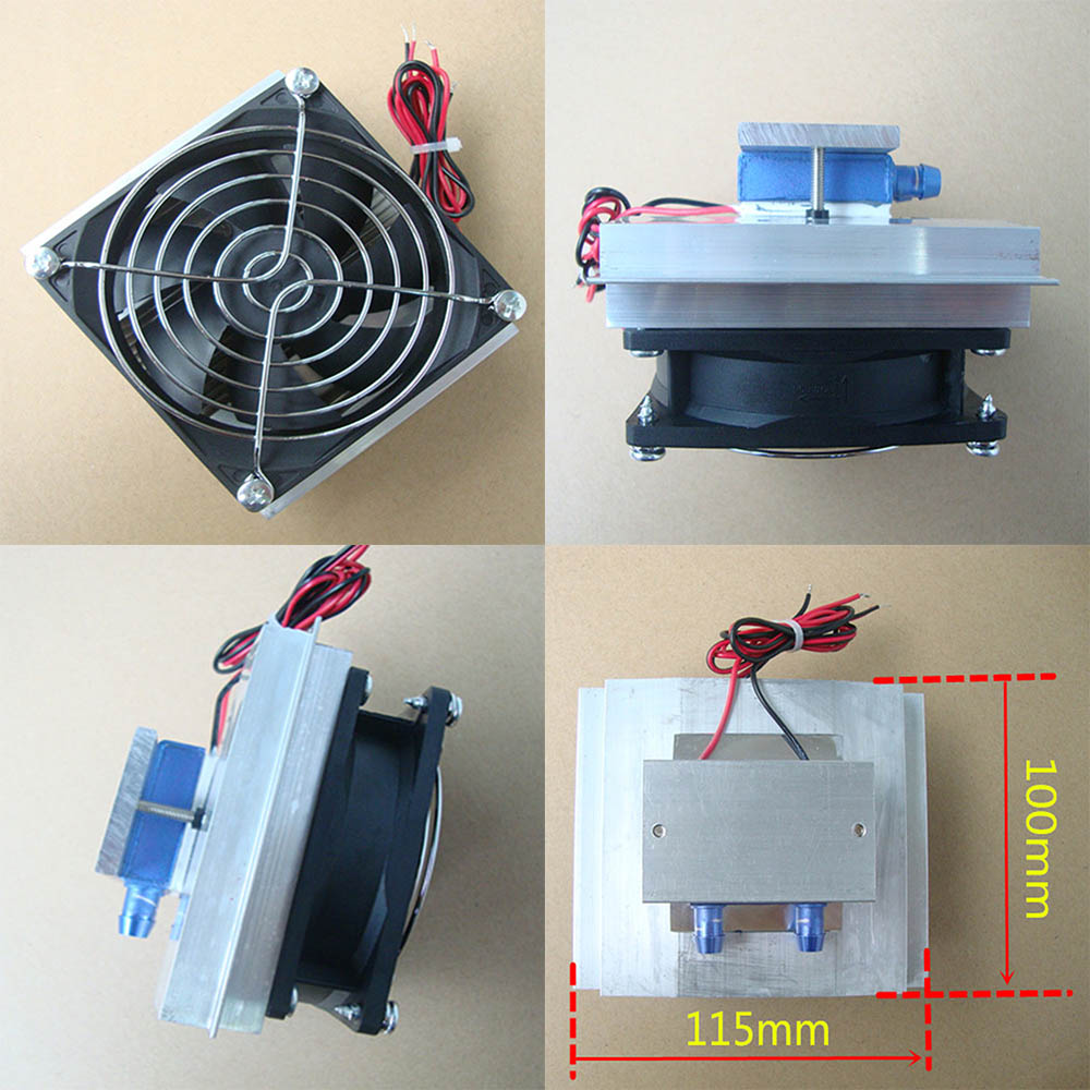Details about 12V 50W Semiconductor Refrigeration Thermoelectric Peltier  Water Cooling Cooler