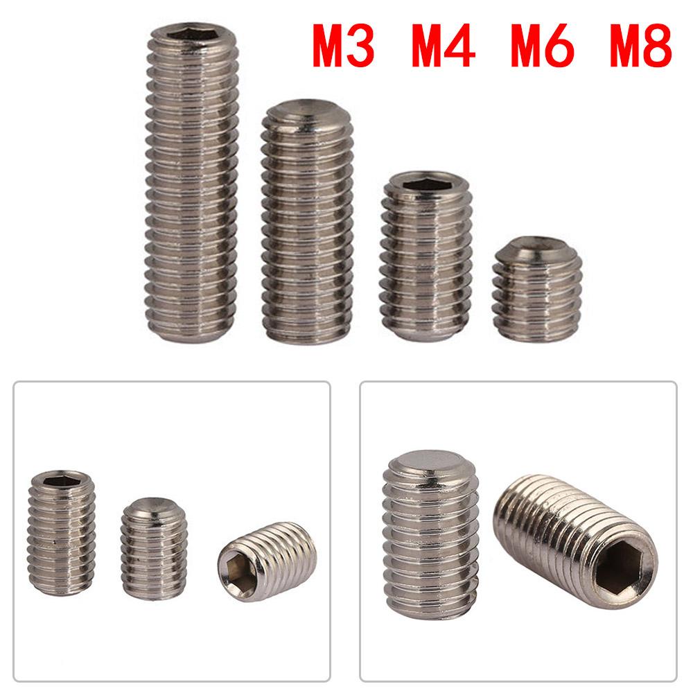 M4//M5 304 Stainless Steel Hex Socket Set Screws with Cup Point Grub Screw DIN916