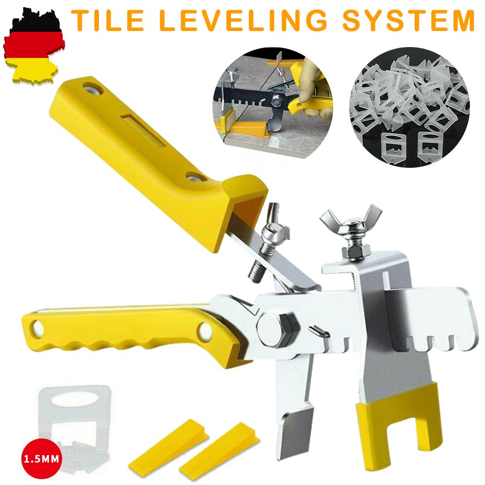 Zange Fliesen Nivelliersystem Verlegesystem Verlegehilfe 1000 Laschen+200 Keile