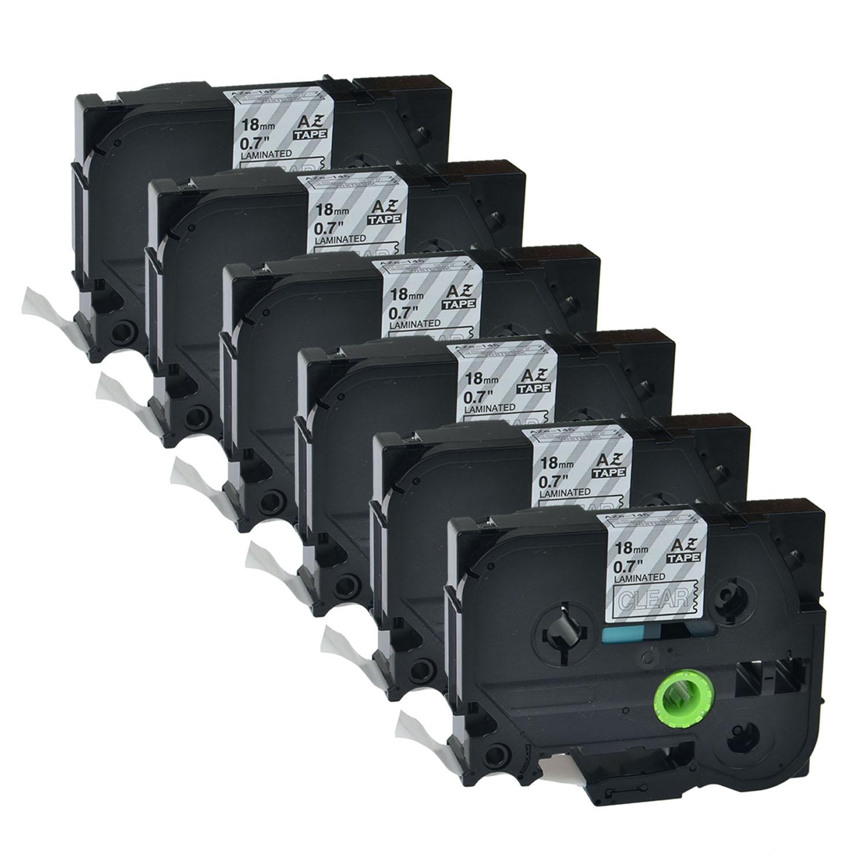 Schwarz auf Weiß Schriftband Farbband TZ241 TZe241 für Brother 18mm PT-1300 1400