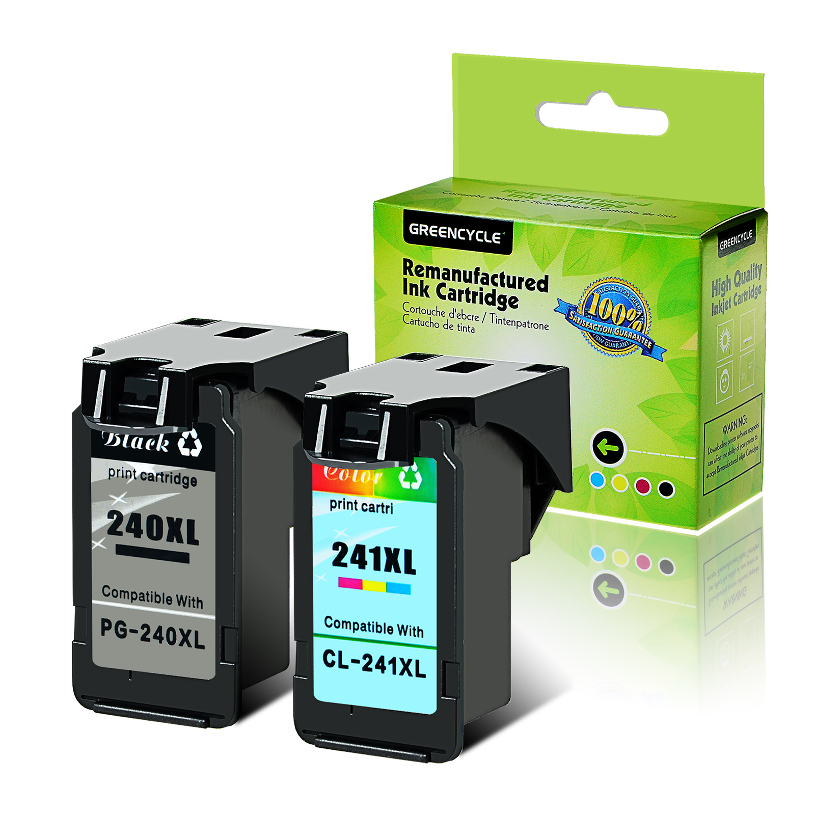 Combo Black and Color Ink Cartridge 6 Pack Best Ink Remanufactured for Canon PG240XL CL241XL 4 Black + 2 Color PG-240XL CL-241XL Used in Canon Pixma MG3220 MG3222 MG3520 MX432 MX439 MX452 MX459