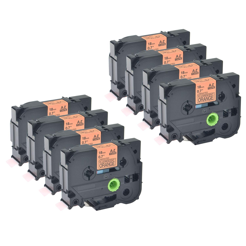 1PK 18mm Black on Orange TZB41 TZ TZe-B41 For Brother PT-D400 3//4/'/' Label Tape