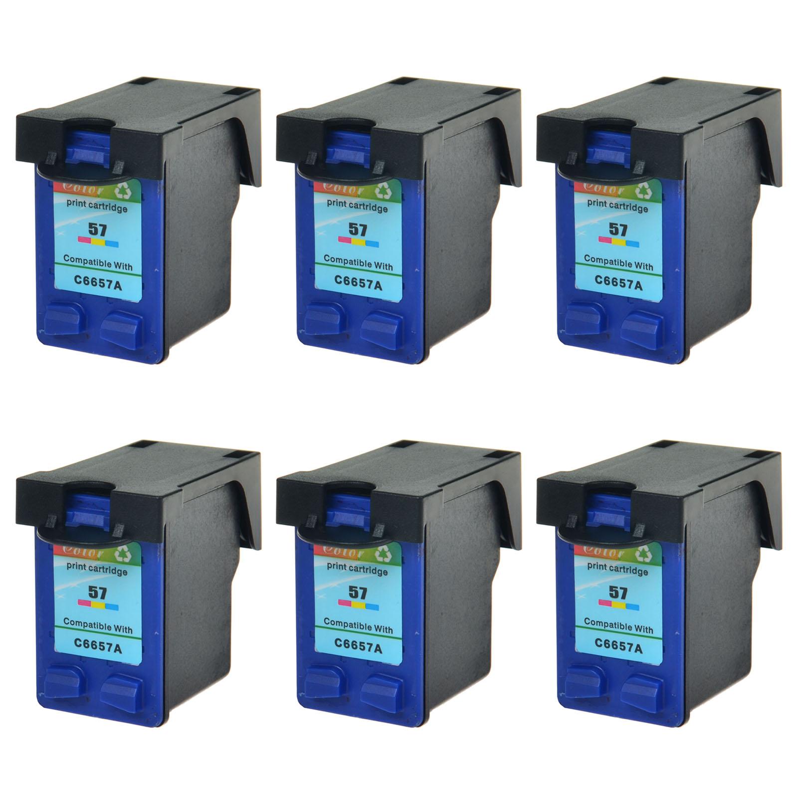 2 Pack HP 56 57 Ink Cartridge for Deskjet 450 5150 5550 5650 5850 9650 9670 9680
