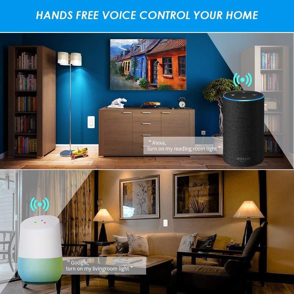 Details About 1x 3 Way Wireless 3x Wifi Receiver Remote Control Wall Switch Home Work W Alexa Echo