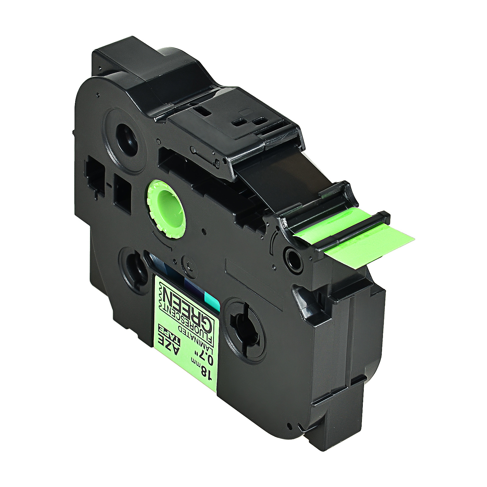 """2PK TZe TZ D41 Black on Fluo Green Label Tape for Brother Ptouch 3//4/"""" 18mm PT18R"""