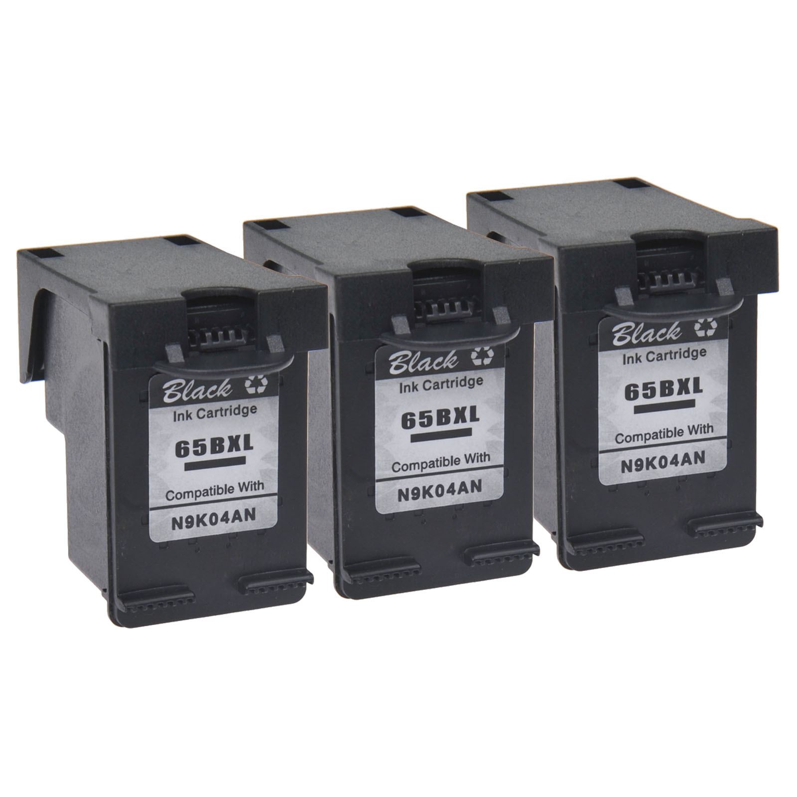 2 Pack 65XL Ink Cartridge Set for HP DeskJet 2652 2655 3720 3722 3730 3752 3758