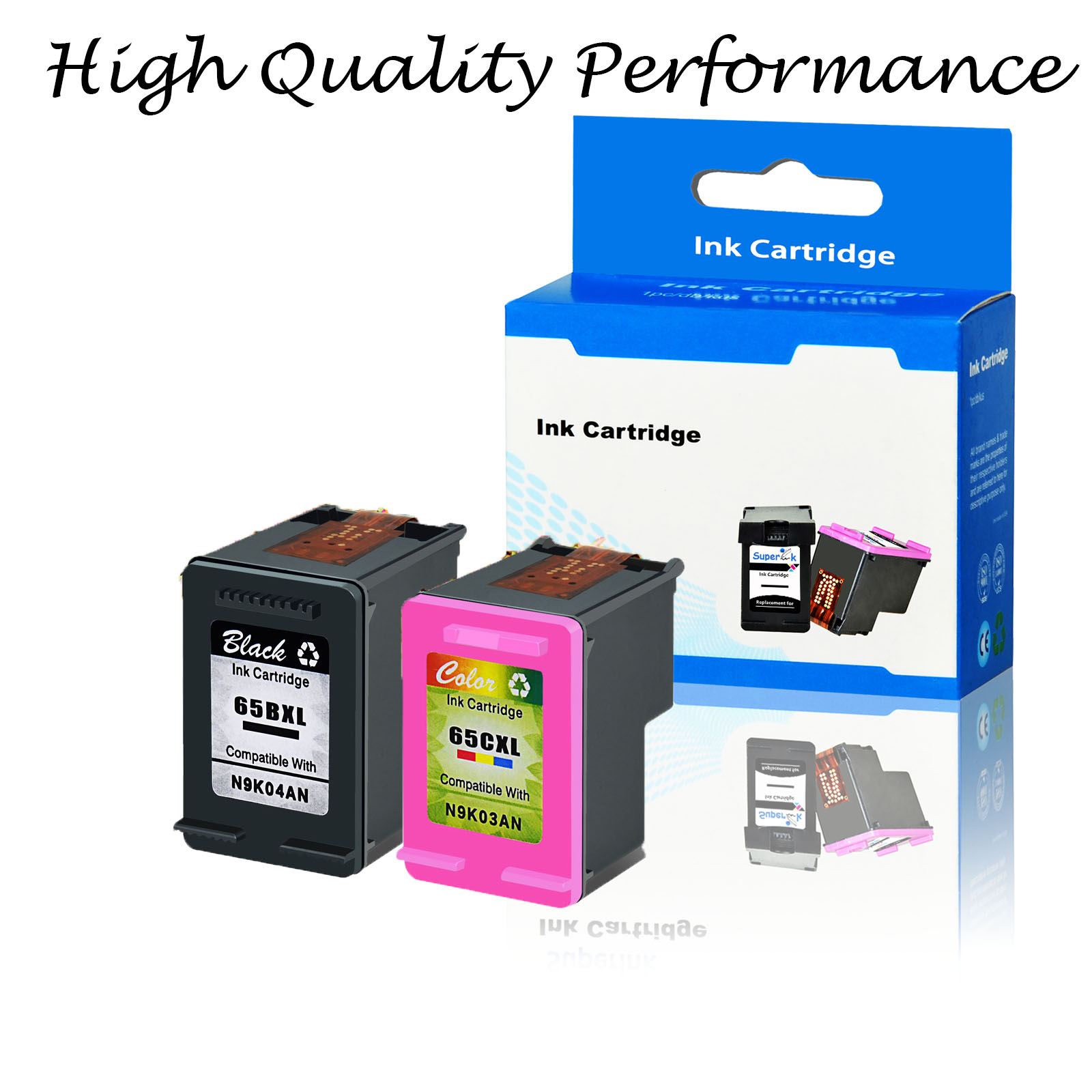 Wholesale 65XL Ink Cartridge Combo for HP Deskjet 2652 3752 3755 3720 3758 3723