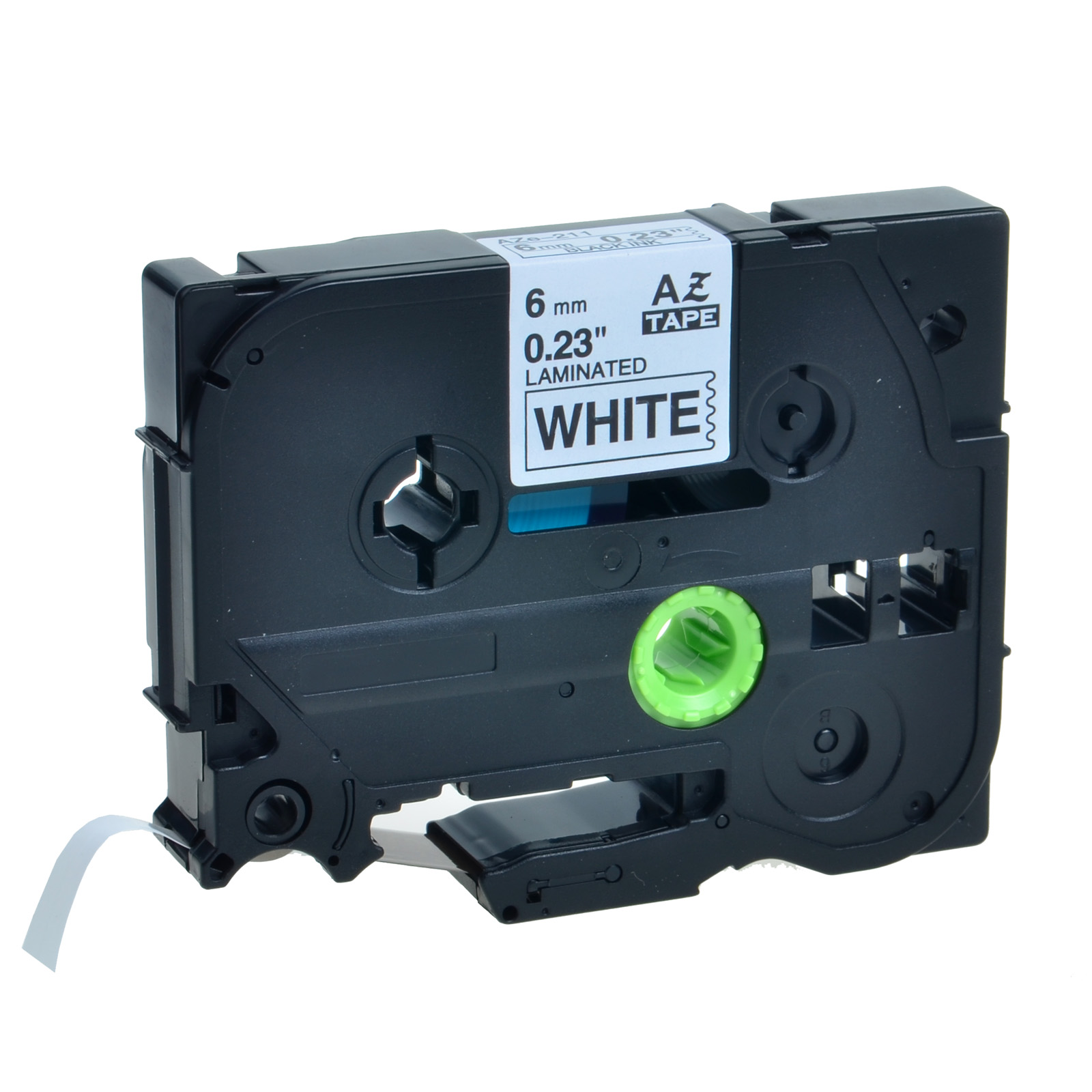 Brother P-touch TZ-211 6mm Tape black on white