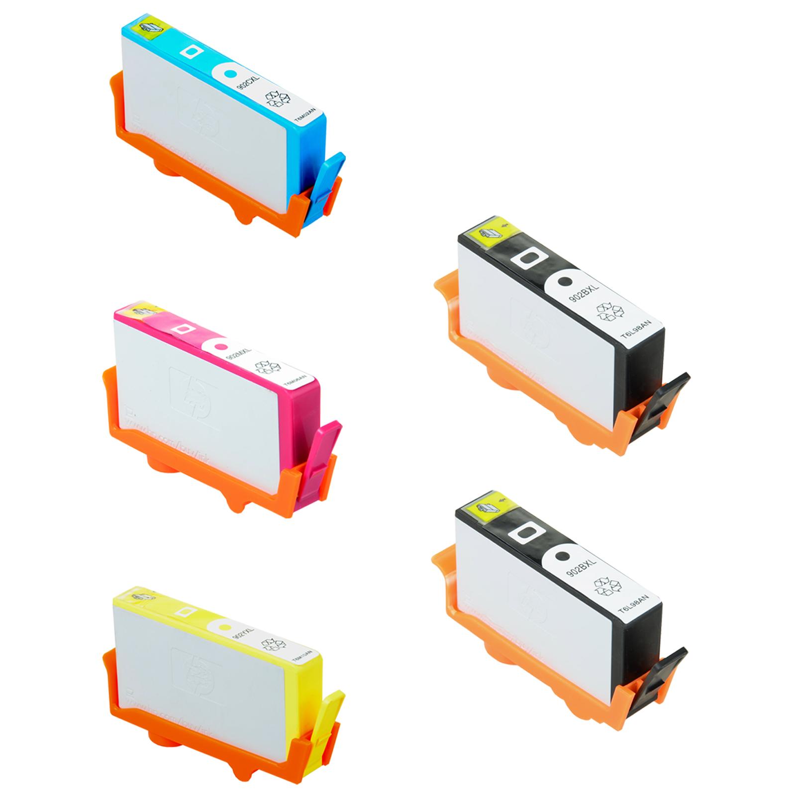 5Pk Compatible Ink Cartridge Set for HP 902 OfficeJet Pro 6960 6968 6970 6974