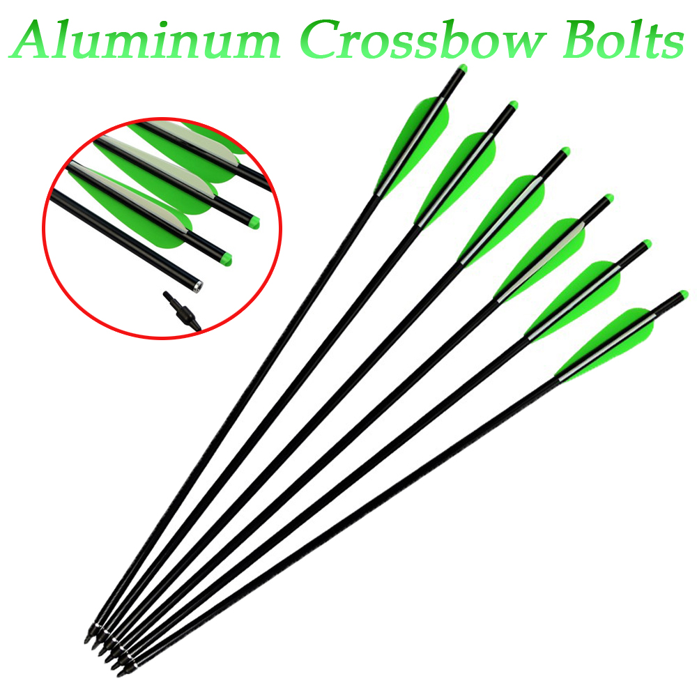 Crossbow Bolts Aluminum Shaft Arrows 16-22 inch Powerful Outdoor Target Hunting