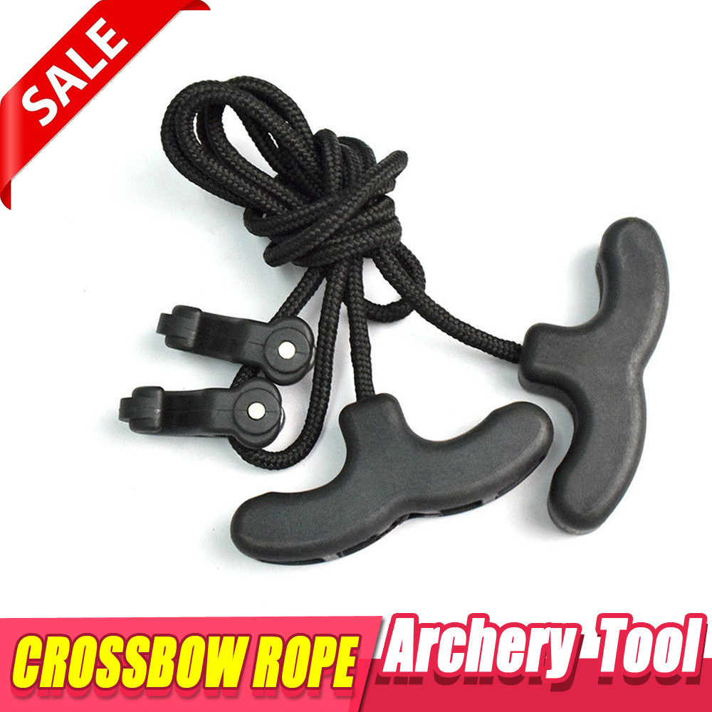 1Pc Archery Crossbow Cocking Rope Device Tool Cocker Double Handle String HC