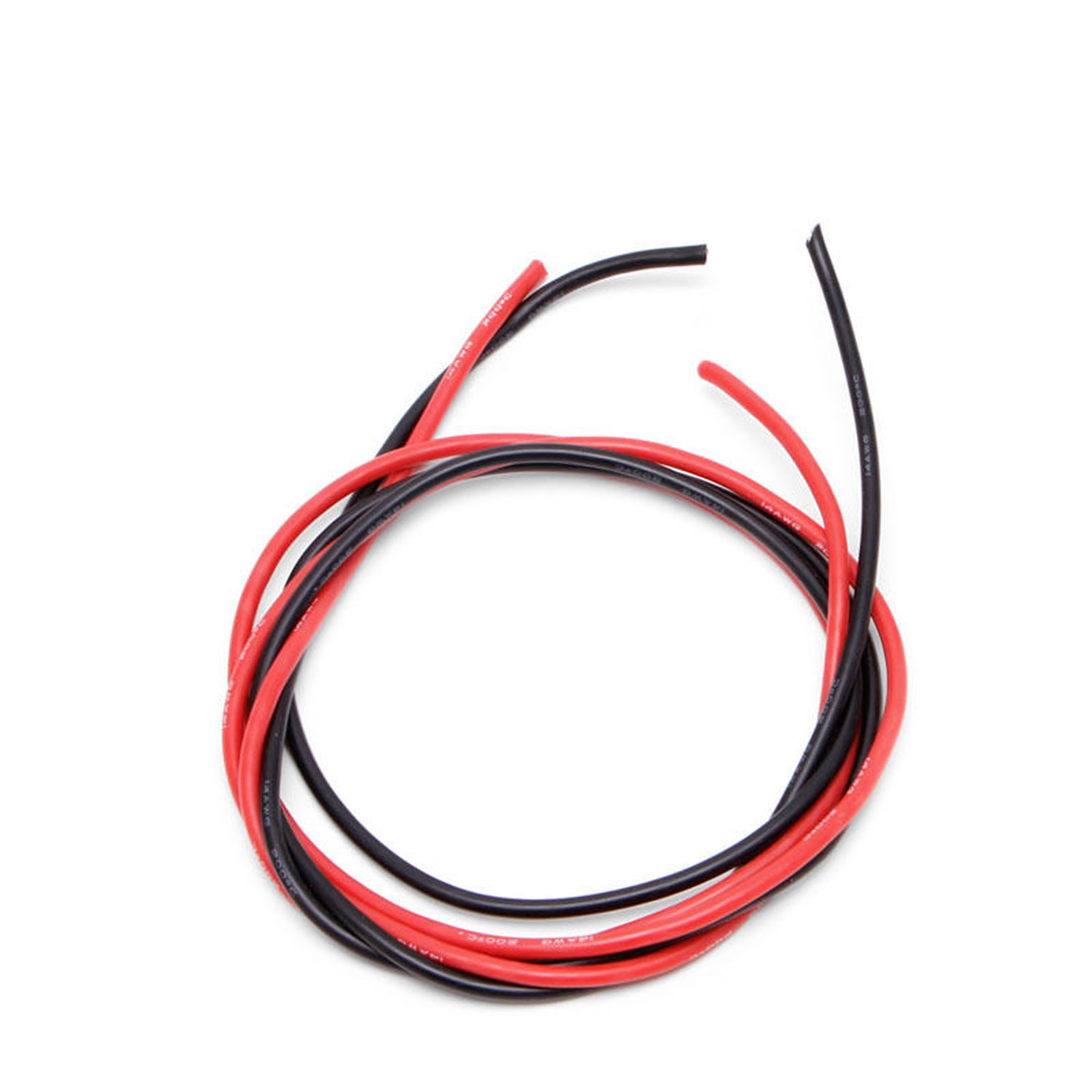 14 Awg Gauge Wire Flexible Silicone Stranded Copper Cables 2m For Wiring Devices Black Red Bsg
