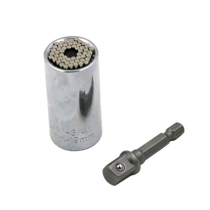 Wrench Bushing Set Magic Spanner Gator Grip Wrench Universal Socket 7-19MM D4F2