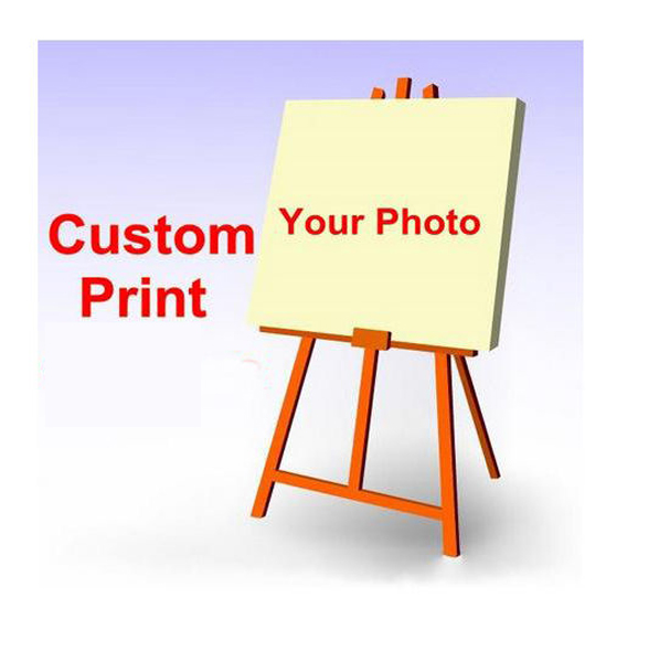 Custom Your Photo Picture Print on Fabric Poster Customized Multi Sizes