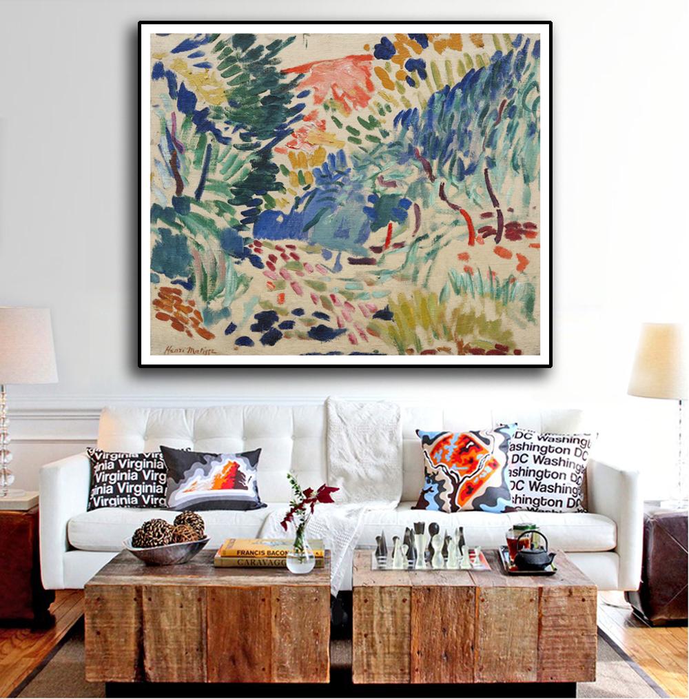 Art Posters Art HD Print Oil Painting Henri Matisse Landscape at ...