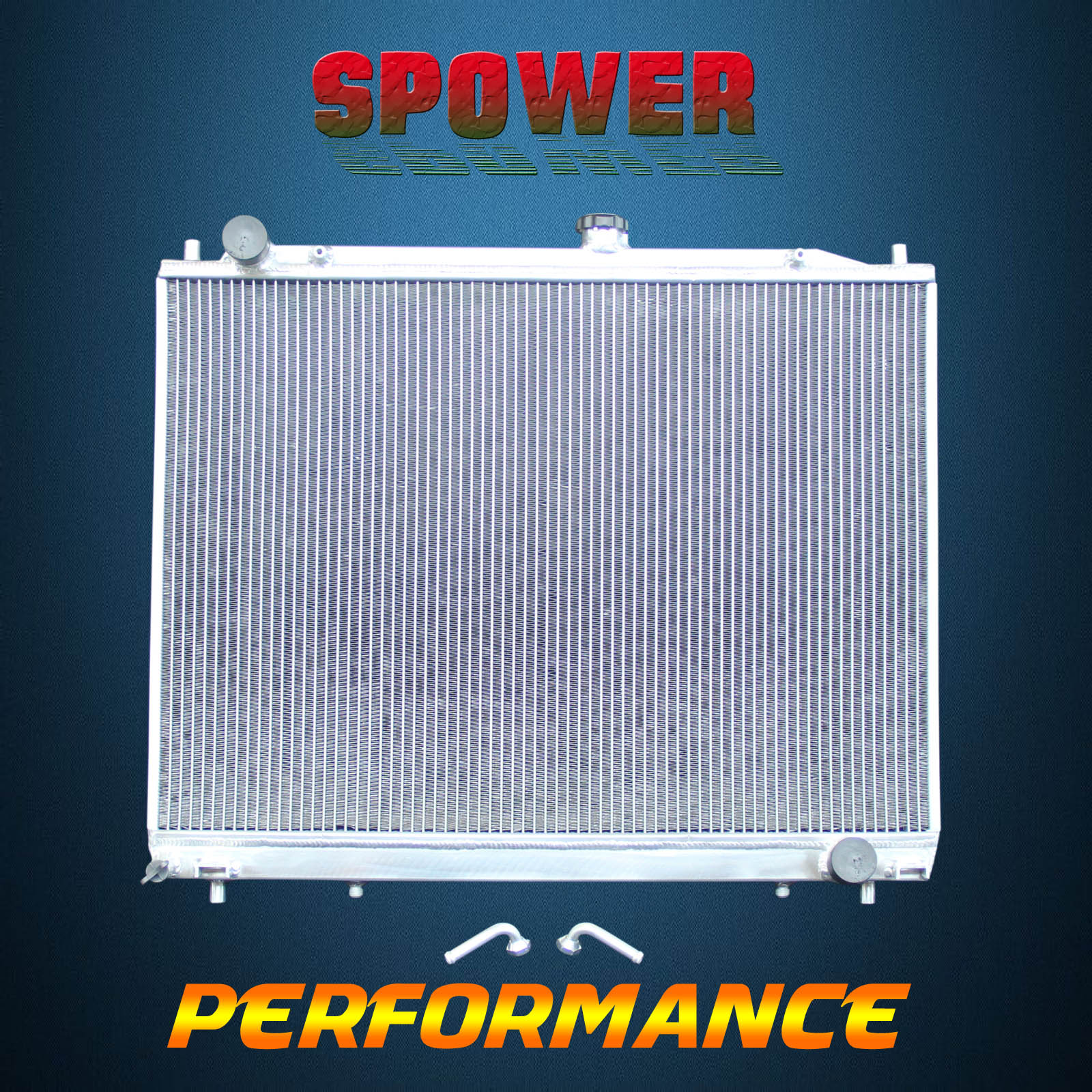 Aluminum Radiator For Mitsubishi Pajero NM NP NS NT 3.0 3.5 3.8 V6 Petrol  00-On