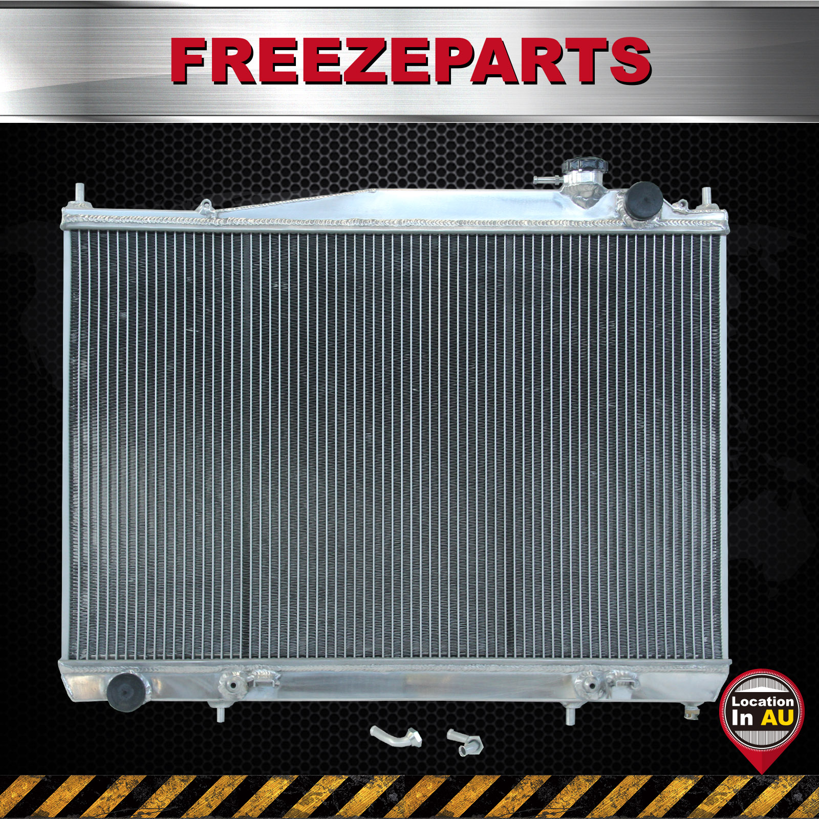 For Nissan Navara D22 R50 2.5L 3.0L Diesel Aluminum Radiator 1997-2001 AT  MT SL