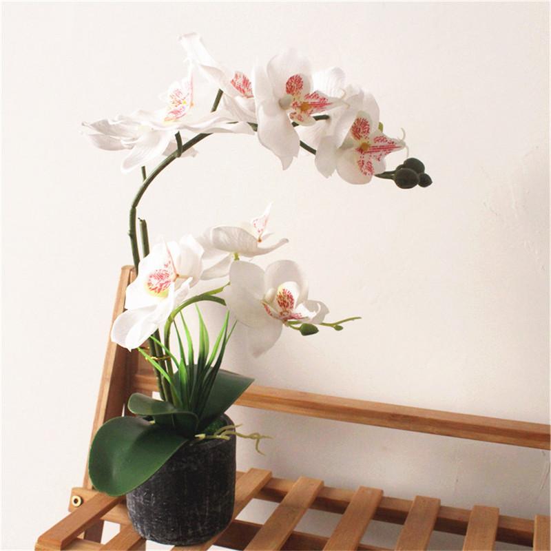 Orchid Silk Flower Wedding Party Bonsai Fake Artificial Butterfly Decor Jian