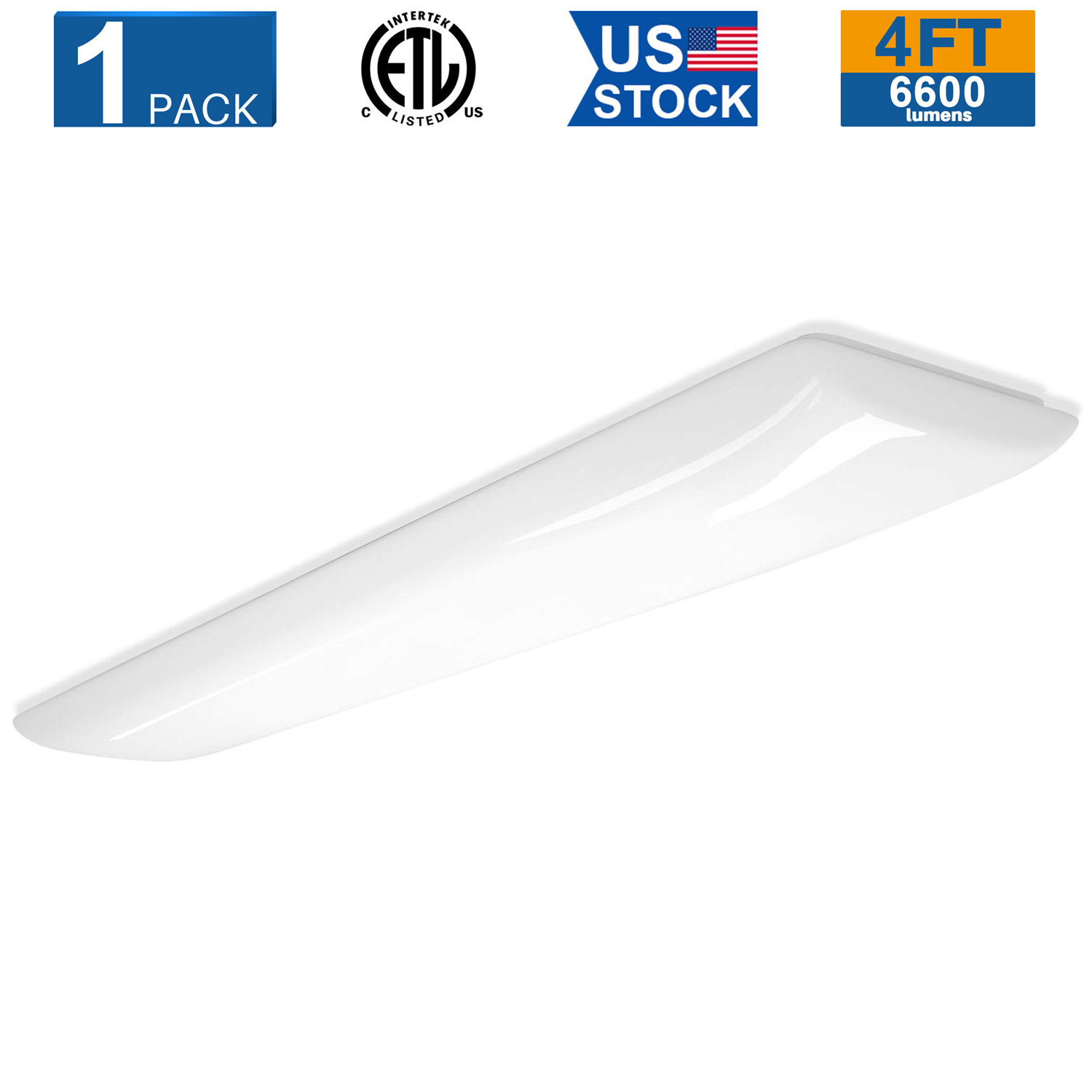 Details About 1pack 4 Foot Led Puff Ceiling Lights 60w Led Kitchen Light Fixture 6600lm 4000k