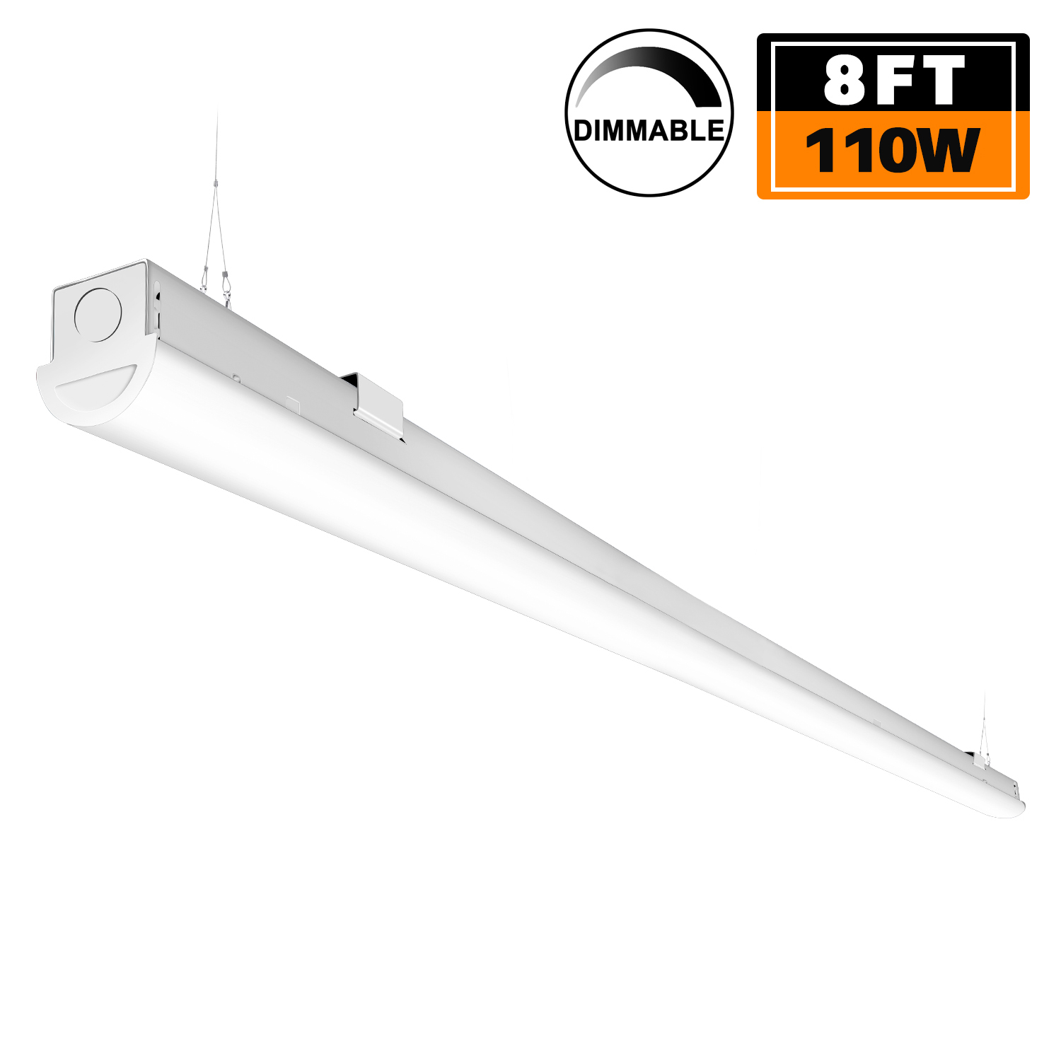 Details About Dimmable 110w Led Strip Lights 8ft Linkable Linear Garage Light 12500lm