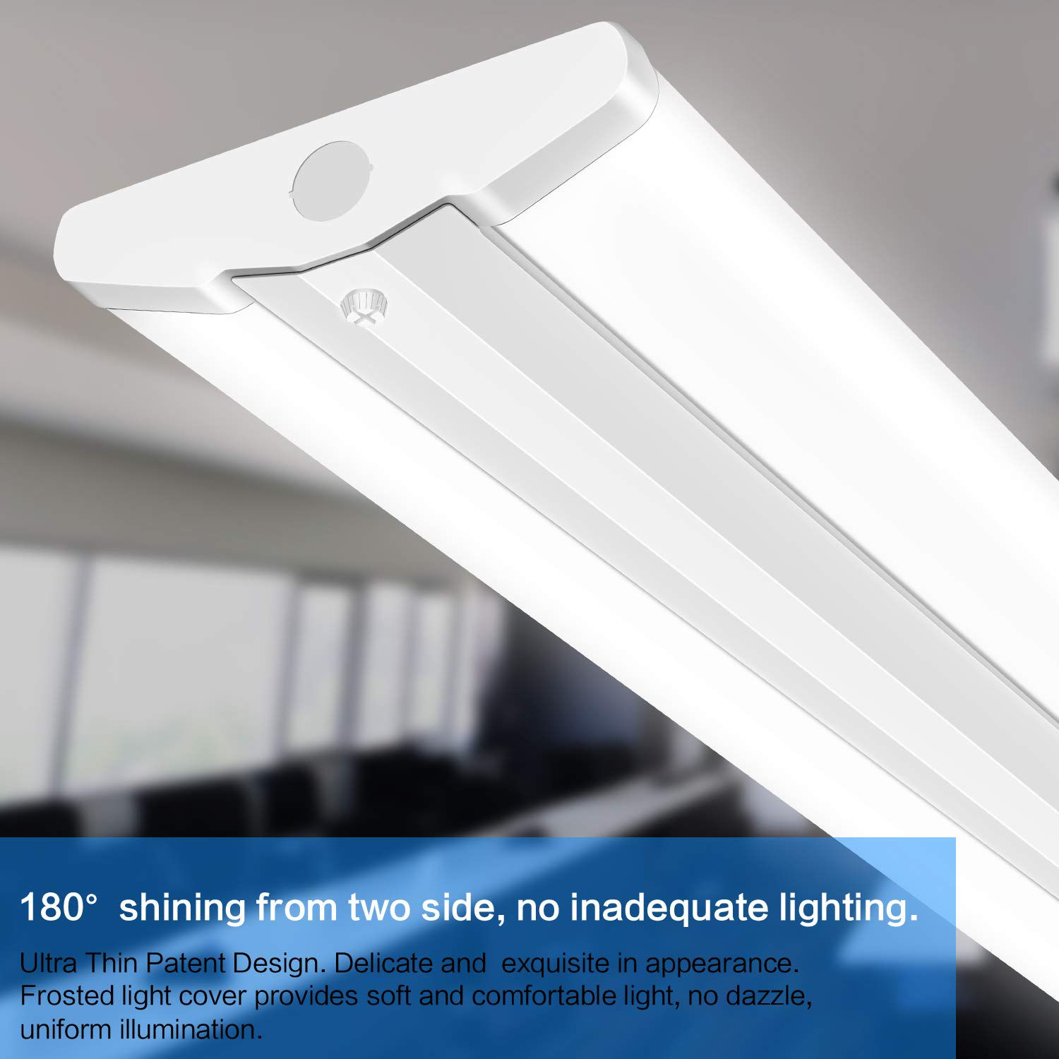 8 Ft 2 Lamp Fluorescent Strip Light White No Ssf2964wp 8ft: 8FT LED Wraparound Ultra Slim Strip Light 110W LED Garage