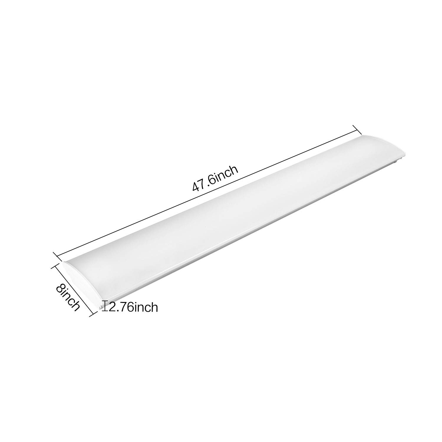 4FT LED Kitchen Light Fixture 50W LED Utility Frosted Ceiling Light 5600lm 4000K  eBay