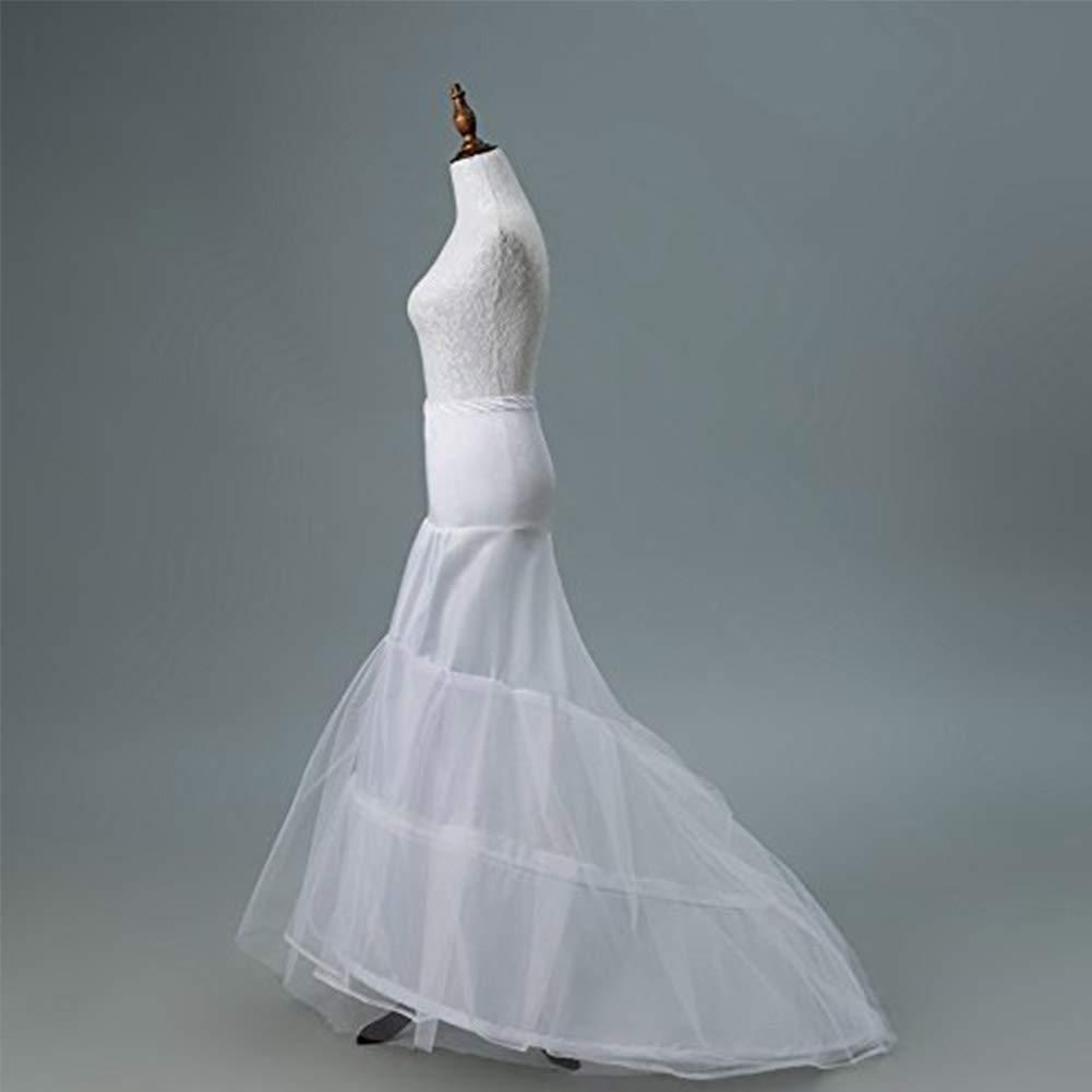 Mermaid Fishtail 2 Hoop Petticoat Skirt Full Wedding Evening Dress