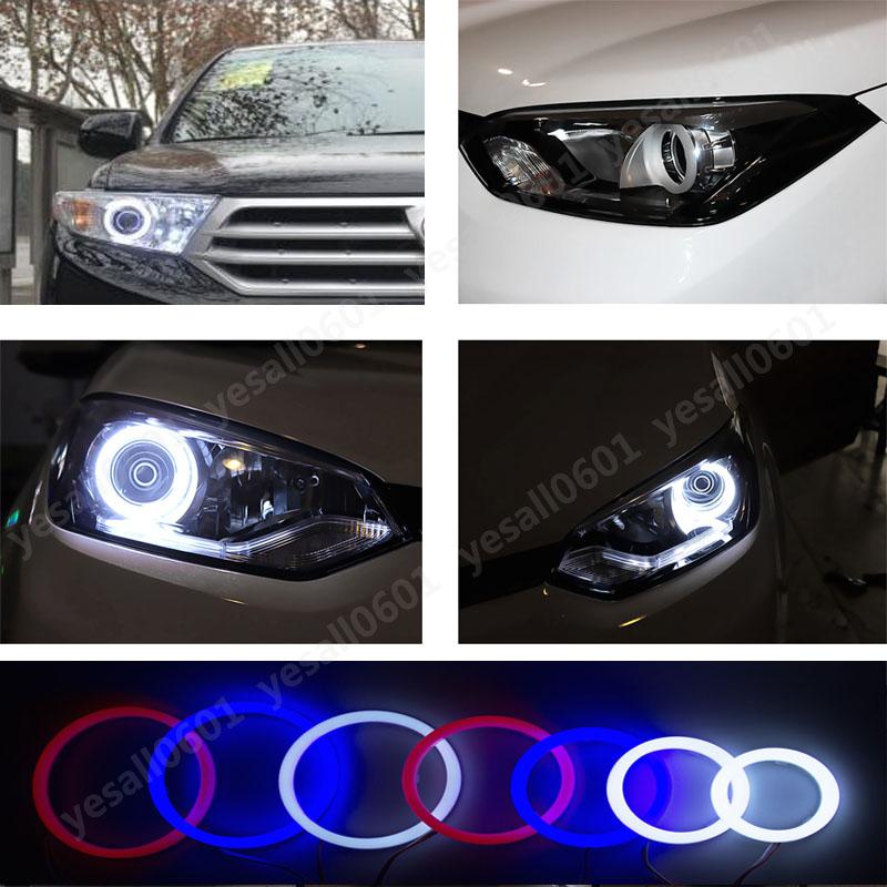 1Pair Car White LED COB Angel Eye Headlight Light Halo Ring Kit Non Source · 2x LED Angel Eye Cotton Light Headlight Halo Ring DRL Fog Lamp White Red Blue