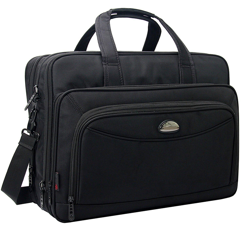 Details About 17 Inch Laptop Bag Expandable Large Capacity Business Briefcase Shoulder