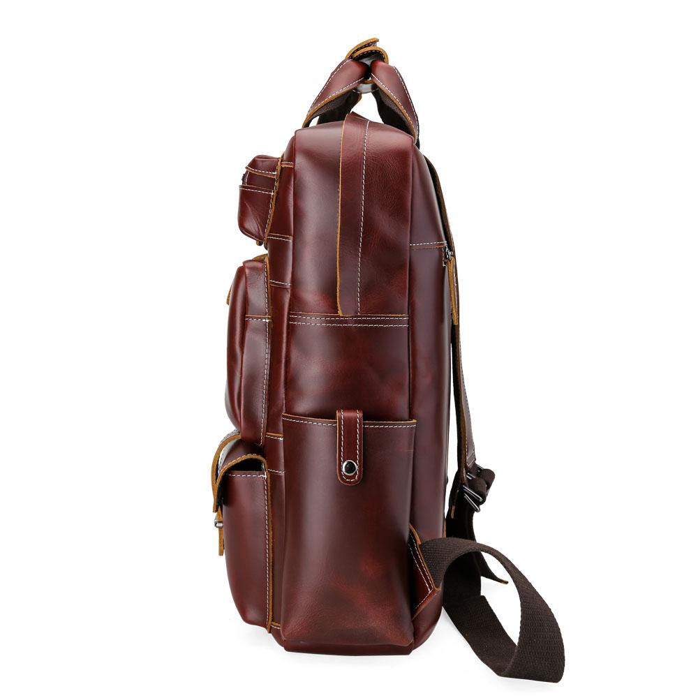 vintage grand capacit sac dos en cuir v ritable voyage sac de messager ebay. Black Bedroom Furniture Sets. Home Design Ideas
