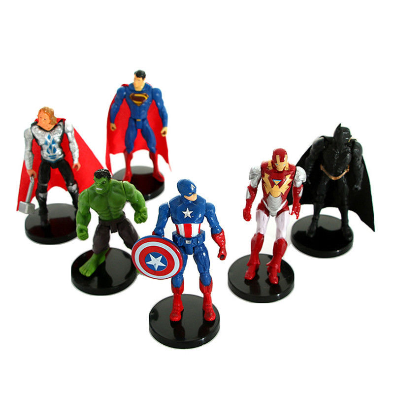 Hulk Avengers Civil War Action Figures Model 17cm Kids Toys Gift Iron Man Batman
