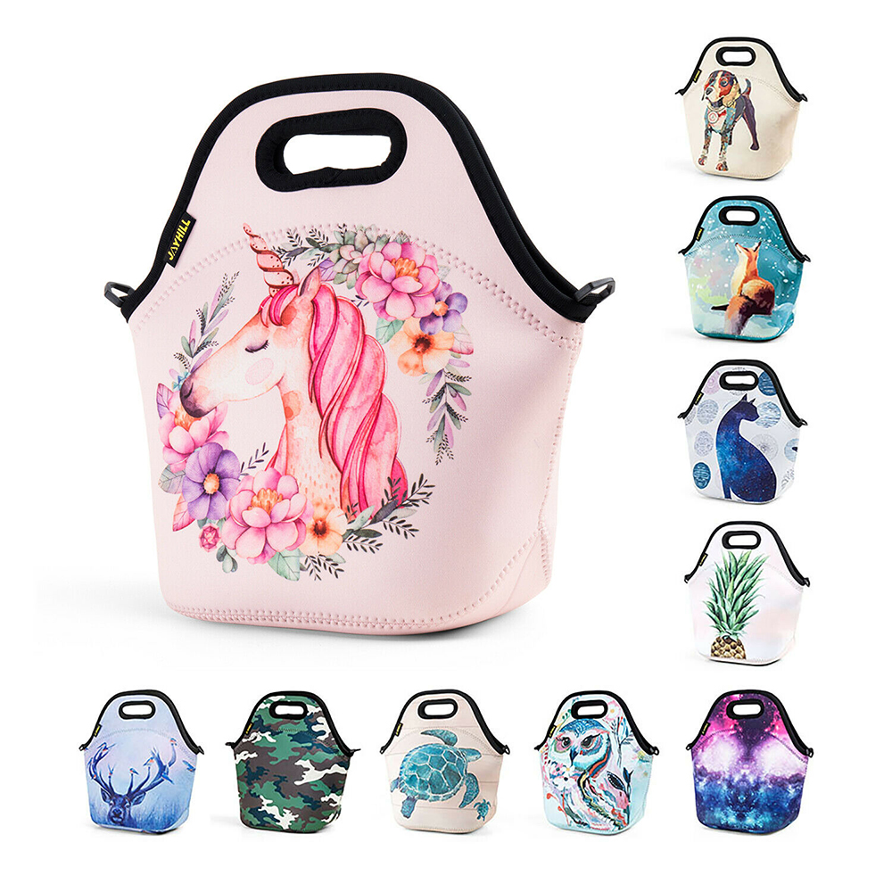 f17f3f1562f9 Cartoon Tote Insulated Lunch Bags for Women Kids Girl Unicorn ...