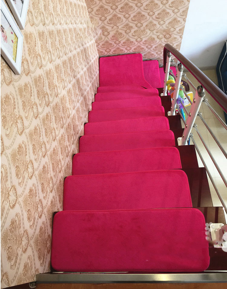 13pcs Stair Treads Rectangle Non Slip Carpet Stair Mats Country Style Rugs  Pads