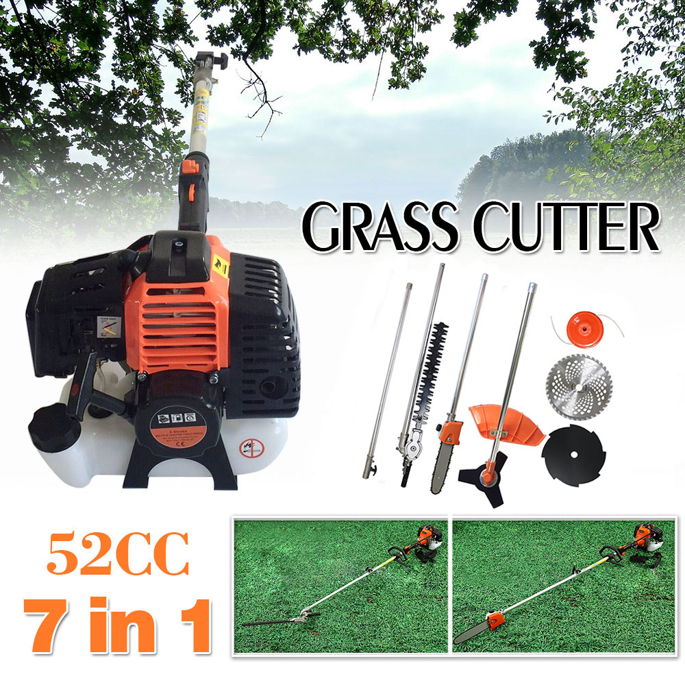 Garden Tools Grass Trimmer New High Quality Petrol Brush Cutter Grass Cutter 5 In1 With 52cc Petrol Engine Multi Brush Strimmer Hedge Trimmer Tree Cutter
