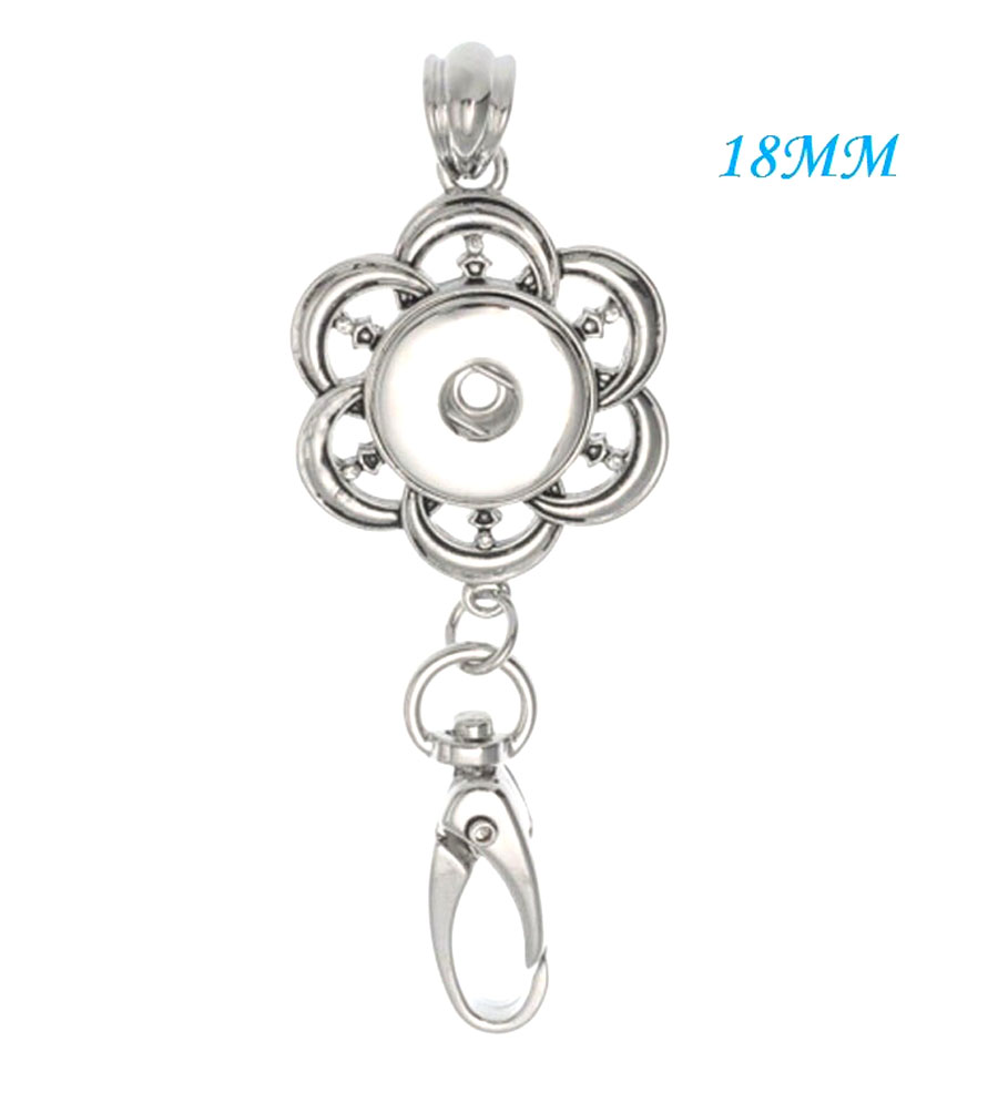 Hot Women Crystal Jewelry Necklace Pendant Fit 18mm Noosa Snap Button N330