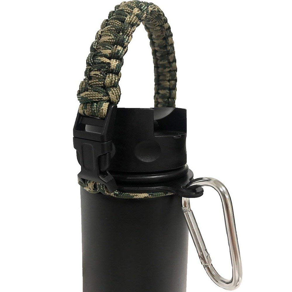 Paracord Handle Strap  Safety Ring /& Carabiner for Wide Mouth Free Shipping