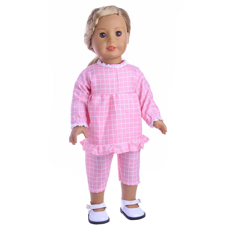 """Fits 18/""""Inch American Girl Doll Handmade Accessories lattice two-piece Clothes"""